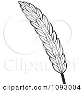 Clipart Black And White Strand Of Wheat Royalty Free Vector Illustration by Lal Perera