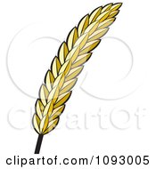 Clipart Golden Strand Of Wheat Royalty Free Vector Illustration by Lal Perera