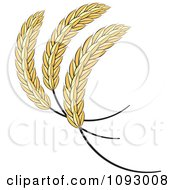 Clipart Golden Sheaves Of Wheat Royalty Free Vector Illustration by Lal Perera