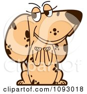 Clipart Begging Spotted Dog Royalty Free Vector Illustration