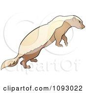 Clipart Brown Honey Badger Royalty Free Vector Illustration