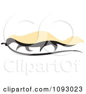 Clipart Honey Badger Carrying A Snake Royalty Free Vector Illustration by Lal Perera #COLLC1093023-0106