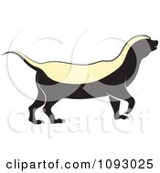 Clipart Alert Honey Badger Royalty Free Vector Illustration