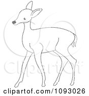 Clipart Black And White Dotted Line Deer Royalty Free Vector Illustration by Lal Perera