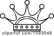 Clipart Outlined Royal Crown Royalty Free Vector Illustration by Lal Perera