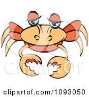 Clipart Orange Crab Royalty Free Vector Illustration
