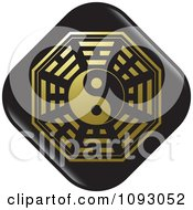 Clipart Black And Gold Yin Yang Chinese Symbol Royalty Free Vector Illustration