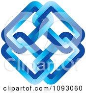 Clipart Blue Link Logo Royalty Free Vector Illustration
