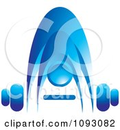 Clipart Blue Person Bending Over To Pick Up A Barbell Royalty Free Vector Illustration by Lal Perera