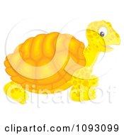 Clipart Happy Orange Tortoise Royalty Free Illustration by Alex Bannykh