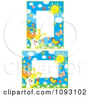 Clipart Yellow Easter Bunny Frames Royalty Free Vector Illustration
