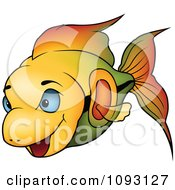 Gradient Orange And Green Fish