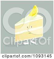 Clipart Lemon Cake Slice Character Royalty Free Vector Illustration