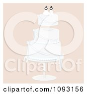 Clipart Layered Wedding Cake With A Lesbian Topper 3 Royalty Free Vector Illustration by Randomway