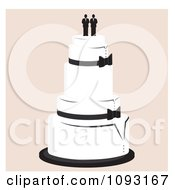 Clipart Layered Wedding Cake With A Gay Topper 2 Royalty Free Vector Illustration