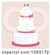 Clipart Layered Wedding Cake With A Lesbian Topper 2 Royalty Free Vector Illustration by Randomway