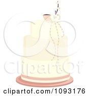 Beautiful Pastel Layered Pink Blossom Wedding Cake