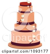 Clipart Blossom Wedding Cake Royalty Free Vector Illustration