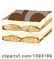 Clipart Tiramisu Royalty Free Vector Illustration