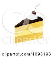 Clipart Serving Of Boston Cream Pie Royalty Free Vector Illustration by Randomway
