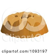 Clipart Frosted Bundt Cake Royalty Free Vector Illustration