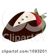 Clipart Chocolate Tux Strawberry Royalty Free Vector Illustration
