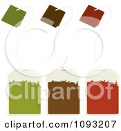 Clipart Gren Brown And Red Tea Bags Royalty Free Vector Illustration by Randomway