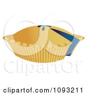 Clipart Blueberry Pie With A Missing Slice Royalty Free Vector Illustration by Randomway
