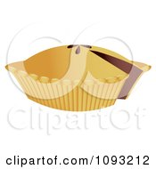 Clipart Pie With A Missing Slice Royalty Free Vector Illustration