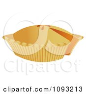 Clipart Orange Pie With A Missing Slice Royalty Free Vector Illustration by Randomway
