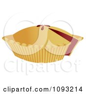 Clipart Cherry Pie With A Missing Slice Royalty Free Vector Illustration