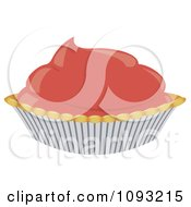 Clipart Pink Cream Pie Royalty Free Vector Illustration