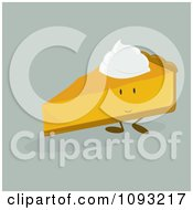 Clipart Slice Of Pumpkin Pie Character Royalty Free Vector Illustration by Randomway