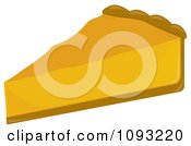Clipart Slice Of Pumpkin Pie 1 Royalty Free Vector Illustration