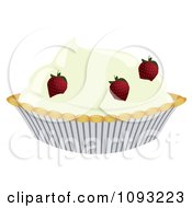 Clipart Strawberry Cream Pie Royalty Free Vector Illustration