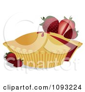 Clipart Strawberry Pie 4 Royalty Free Vector Illustration