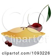Clipart Cherry Pie Royalty Free Vector Illustration