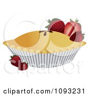 Clipart Strawberry Pie 3 Royalty Free Vector Illustration
