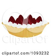 Clipart Strawberry Pie 1 Royalty Free Vector Illustration by Randomway