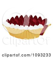Clipart Strawberry Pie 2 Royalty Free Vector Illustration