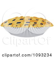 Clipart Blueberry Pie With Woven Crust Royalty Free Vector Illustration by Randomway