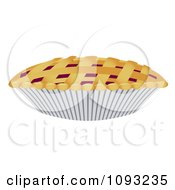 Clipart Cherry Pie With Woven Crust Royalty Free Vector Illustration by Randomway