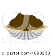 Clipart Chocolate Cream Pie Royalty Free Vector Illustration