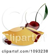 Clipart Cherry Pie - Royalty Free Vector Illustration by Randomway