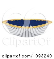 Clipart Blueberry Pie Royalty Free Vector Illustration
