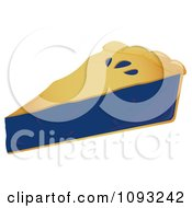 Clipart Serving Of Blueberry Pie Royalty Free Vector Illustration