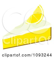 Clipart Slice Of Lemon Meringue Pie Royalty Free Vector Illustration by Randomway