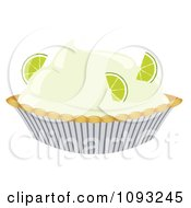 Clipart Key Lime Pie Royalty Free Vector Illustration