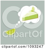 Clipart Lime Thinking Of Key Lime Pie Royalty Free Vector Illustration