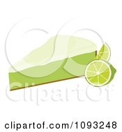 Clipart Slice Of Key Lime Pie 1 Royalty Free Vector Illustration